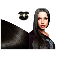Extensions à chaud brunes cheveux raides 63 cm 0.85 Gr