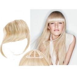 Frange à clips blond clair cheveux naturels