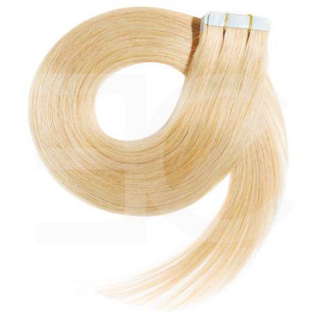 Extensions adhésives blond clair cheveux raides 63 cm