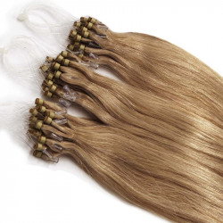 Extensions à loops blond doré cheveux raides 48 cm