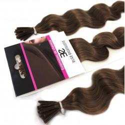 Extensions n°8 (chatain) cheveux frisés 100% naturels à froid 60 cm